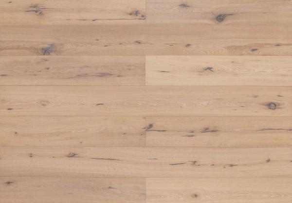 Landhausdiele Eiche Astig handgehobelt weiß geölt - 60507