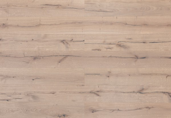 Landhausdiele Kerneiche gebürstet leicht grau geölt - 33650