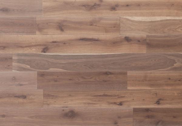 Massivholzdiele Wildeiche gebürstet angeräuchert weiß geölt - 90014