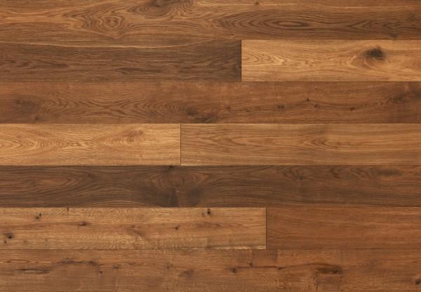 Massivholzdiele Wildeiche handgehobelt angeräuchert geölt - 90062