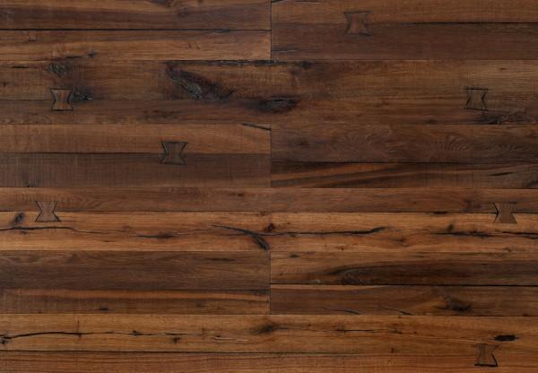 Landhausdiele Da Capo Eiche Unico Altholzdesign mit Holzdübel geölt - 44108