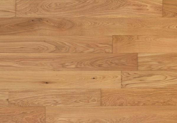 Massivholzdiele Natureiche gebürstet leicht weiß pigmentiert geölt - 90037