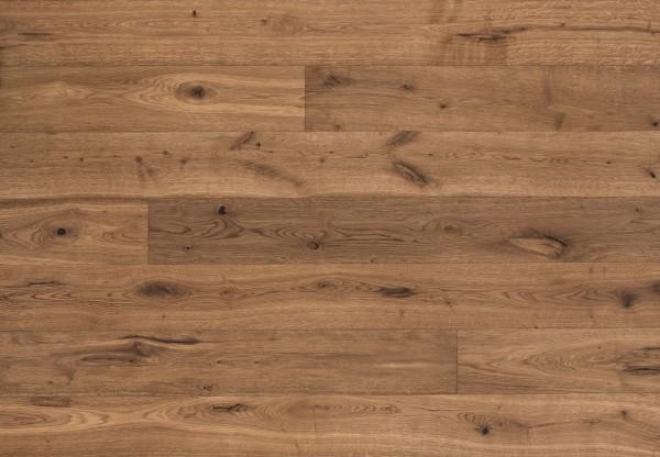 Landhausdiele Eiche Basel Rustik gebürstet angeräuchert leicht weiß geölt - 50616