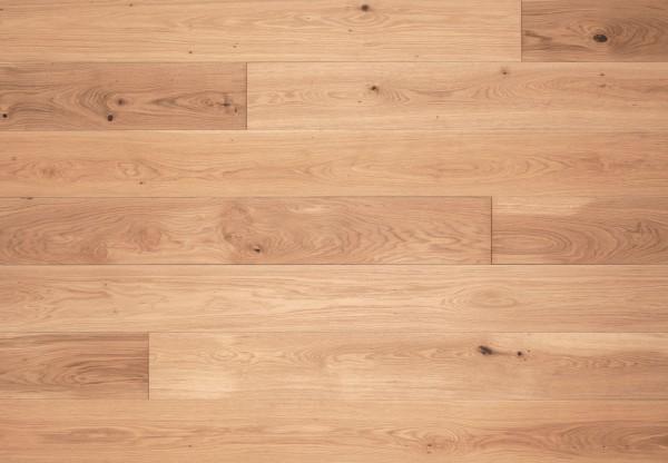 Massivholzdiele Asteiche gebürstet gelaugt mittel weiß geölt - 90031