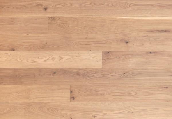 Gutsboden Asteiche gebürstet weiß geölt - 99024