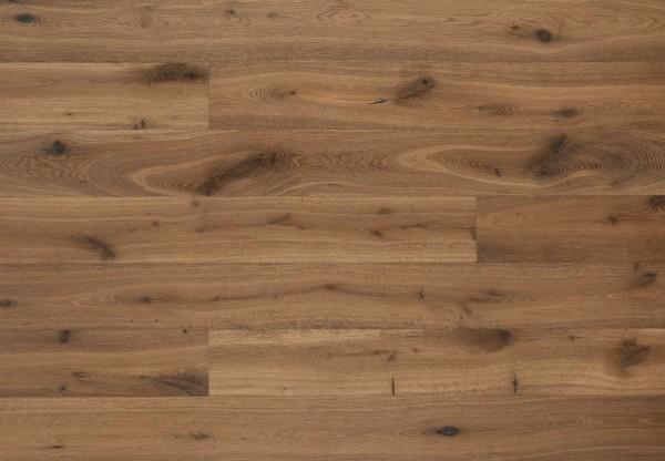 Landhausdiele Eiche Victoria handgehobelt tiefgebürstet geräuchert roh-optik geölt - 60328