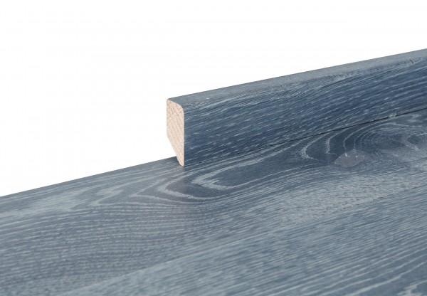 Sockelleiste massiv Typ1 Eiche graphitgrau gelaugt gekalkt geölt - 90735