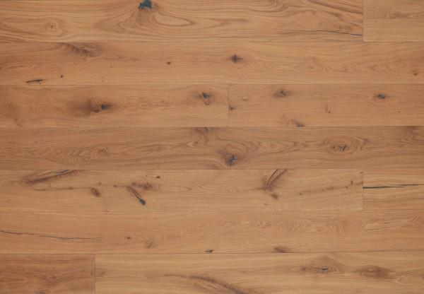 Landhausdiele Eiche Markant gebürstet leicht weiß pigmentiert geölt - 50501