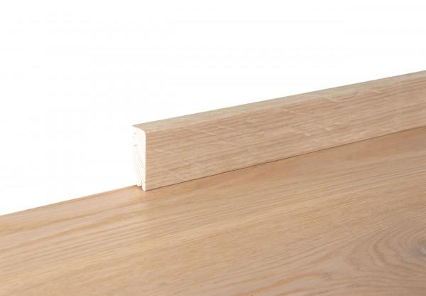Sockelleiste furniert Cube Eiche Altholz gekalkt weiß geölt - 11702