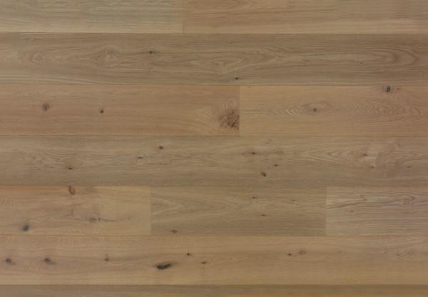 XL Breitdiele Eiche astig gebürstet angeräuchert weiß geölt - 60458