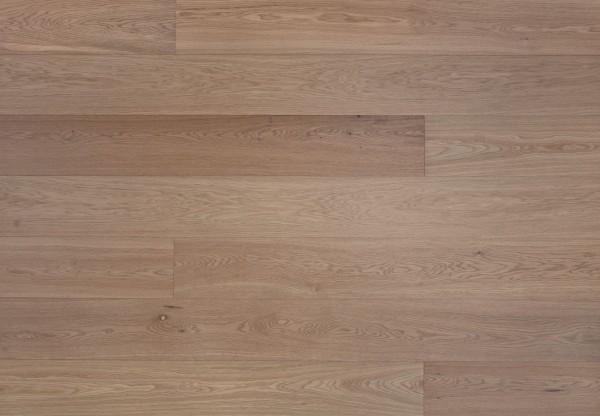 Landhausdiele Eiche astig gebürstet weiß matt lackiert - 47500