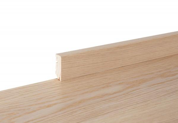 Sockelleiste furniert Cube Eiche mittel weiß geölt - 11161