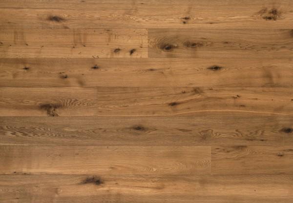 Landhausdiele Eiche Country astig gebürstet geräuchert matt lackiert - 60332
